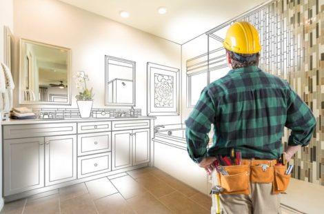 Plumber imagining future bathroom remodel