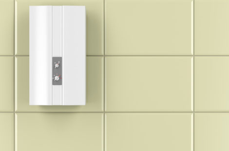 Automatic water heater in the bathroom