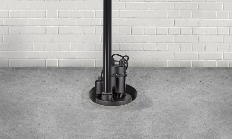 Submersible water Pump for flood prevention in a basement floor